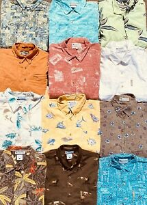 JOB LOT X12 MIXED COLUMBIA BRANDED PATTERN AND PLAIN BUTTON DOWN SHIRTS 27-06