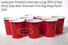 500 American Large 523 ml Red Party Cups Beer Schooner Frat Keg Pong Plastic USA
