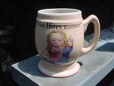 """1960s """"Drink Hires Rootbeer / Root Beer"""" Mug or Stein ~ NICE!"""