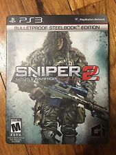 Sniper: Ghost Warrior 2 [BulletProof SteelBook Edition] W/Manual PS3 (NO GAME)