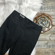 Jil Sander Black Pants 36 Cotton Blend Made in Italy Cropped Side Slit Detail