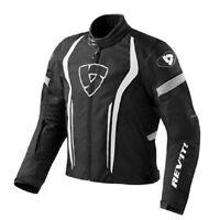 Giacca giubbotto moto Revit Rev'it Raceway Black White jacket