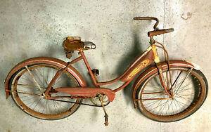 Vintage Columbia bike with tank and fenders
