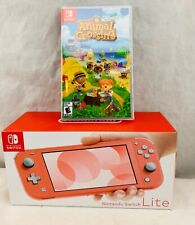 Nintendo Switch Lite Coral Color New in Box Animal Crossing Game Fast Shipping