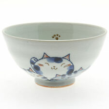"1x Japanese 4""Blue ""Trio of Cats""  Rice Bowl #130-497"