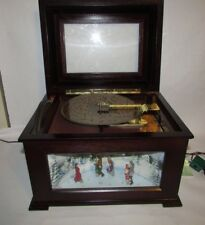 Mr. Christmas Holiday Animated Symphonium Music box 16 Disc Victorian skaters