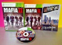 Mafio 2 II + Poster Map - XBOX 360 - COMPLETE Rare Game Tested