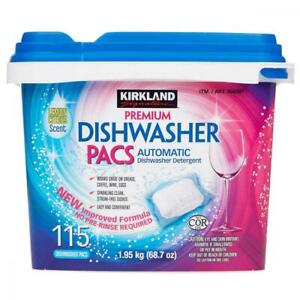 Kirkland Signature Easy to Use, Streak Free Premium Dishwasher Pacs,...