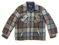 Sears The Men's Store Size Large Reg Jacket Plaid Outerwear Pockets Button Front
