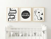 Baby Boy Tribal Nursery or Bedroom Wall Art Decor Print Set, 3 for 2, Boys Room