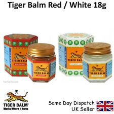 ORIGINAL TIGER BALM 2 PACK -1 RED & 1 WHITE-21ml 18g-RELIEF from HEADACHE, PAIN