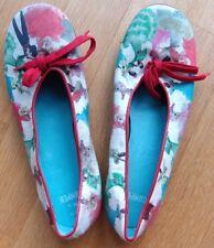 CAMPER - Ballerinas Schuhe - Stoff - Farbe: beige grün rot - Größe: 40 ( 6,5 )