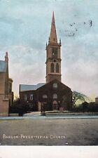 BANGOR PRESBYTERIAN CHURCH CO. DOWN IRELAND POSTCARD sent 6th MARCH 1908