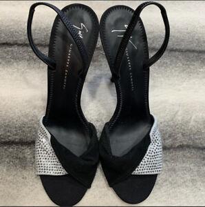 Giuseppe Zanotti Alien 115 Swarovski Crystal Embellish Heels Womens E900052