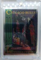 "Rare: 1996 96-97 Topps ""NBA at 50"" Chicago Bulls 72 Wins #72, Michael Jordan !"