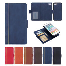 Removable Book Style Magnetic Leather Wallet Case Cover For iPhone6S 5S 7Plus 8X