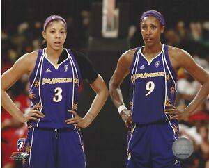 CANDACE PARKER & LISA LESLIE 8x10 WNBA LICENSED PHOTOGRAPH LASPARKS *SUPERSTARS*