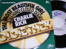 """7"""" - Charlie Rich Most beautiful Girl & Behind closed Doors # 2834"""