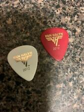 RARE 2012 EDDIE VAN HALEN RED GUITAR PICK TOUR USED