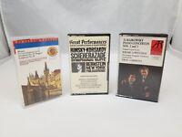 Classical Music Cassettes Set of 3 Mozart Tchaikowsky, Rimsky-Korsakov Bernstein