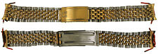 Vintage Omega Gold Plated Stainless Steel 18mm Beads of Rice Watch Band Bracelet