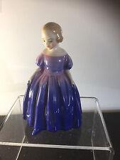 Rare MARIE  lady figure Royal Doulton HN 1370  English  Purple Dress young girl