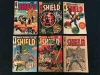 NICK FURY AGENT OF SHIELD Lot of 6 Silver Age Comics: #1,2,4,7,10 &14 - Avg G/VG