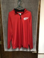 Detroit Red Wings NHL Authentic Majestic Therma Base 1/4 Zip L/S Shirt Men's L