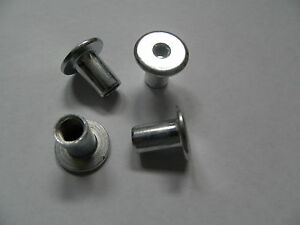 10 Stück Hülsenmuttern M10 verzinkt Flachkopf Innensechskant geschlossen