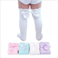 Girls Baby Princess Kids Cotton Bow Leg Warmers Tube Socks Knee High Socks
