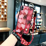 Epoxy Cute Love Soft Case Cover w/ Wristband Strap for iPhone 6 7 8 X XS Max XR