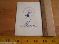 United Airlines Mainliner airplane small dinner menu 1940s Oakland Sky-Diner