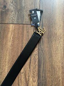 Lauren RL Women Black Leather Belt - M