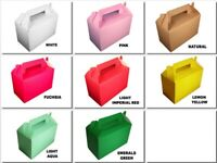 "1 - GABLE gift Box 8""x4""x5"" with Handle Choose Box Color"