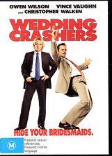 WEDDING CRASHERS - DVD R4 (2006) Owen Wilson Vince Vaughn LIKE NEW - FREE POST