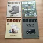 GO OUT 2020-2021 4-volume set magazine from Japan