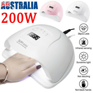 200W SUN X5Plus Nail Lamp UV LED Light Nail Art Dryer Gel Polish Curing Machine