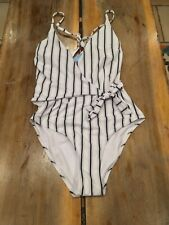 bccb82ab30 Cupshe Stay Young Stripe One-piece Swimsuit Size Medium.