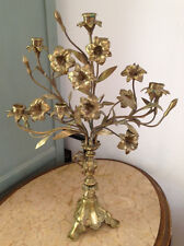 WONDERFULLY DECORATIVE ANTIQUE FRENCH SOLID BRASS CHURCH CANDELABRA