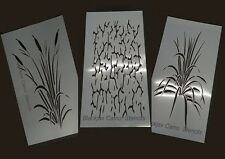 "New! Camo 4pc Real Look Wetland Set 2 (3) 20""x12"" (1) 12""x8""stencils. Camouflage"