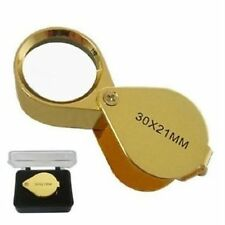 10 LOT 30x21mm Jeweler Magnifier Magnifying Glass Eye Loupe Gold  Silver Jewlery