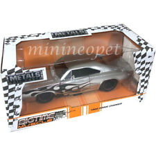 JADA 99367 BIGTIME MUSCLE 1968 DODGE CHARGER 1/24 DIECAST SILVER with FLAME