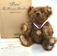 Steiff Penny Federation Australia LE Teddy Bear 2001 Mohair Plush 35cm Cert Box