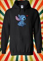 Heart Disney Lilo and Stitch Ohana Men Women Unisex Top Hoodie Sweatshirt 2275