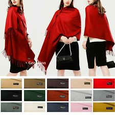Womens Mens Soft Oversized Blanket 100% Cashmere Wool Shawl Wrap Scarf Scotland
