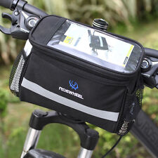 Bike Bicycle Cycling Outdoor Front Basket Pannier Frame Tube Handlebar Bag Pouch