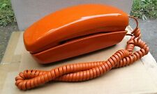 "VINTAGE ""RETRO"" ORANGE WESTERN ELECTRIC TRIMLINE ROTARY DIAL TELEPHONE NO.80219"