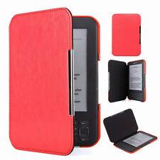 Housse de protection en cuir rouge Slim Leather Protector pour Amazon Kindle 3