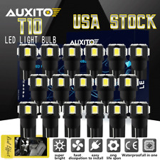 20X T10 194 168 LED License Plate Interior Wedge Light Bulbs Super Bright White
