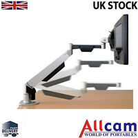 Gas Spring Monitor Arm Desk Stand Mount for LCD TV / Monitors w/ horizontal arms